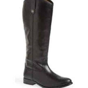 Frye Black leather Melissa tall riding boots Sz 8